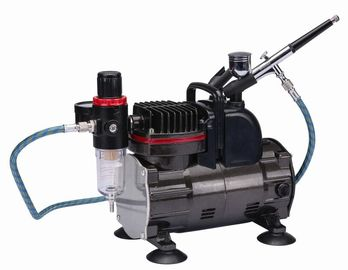 China Silent Portable Airbrush Air Compressor With Classic Silver Color TC-812K supplier