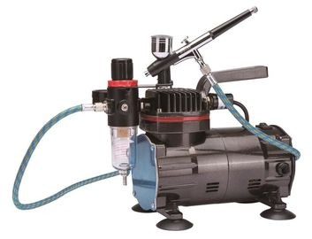 China Professional Airbrush Air Compressor Single Piston With Regulator TC-822K supplier